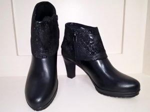 Black ankle comb boots, Elegante Dronfield