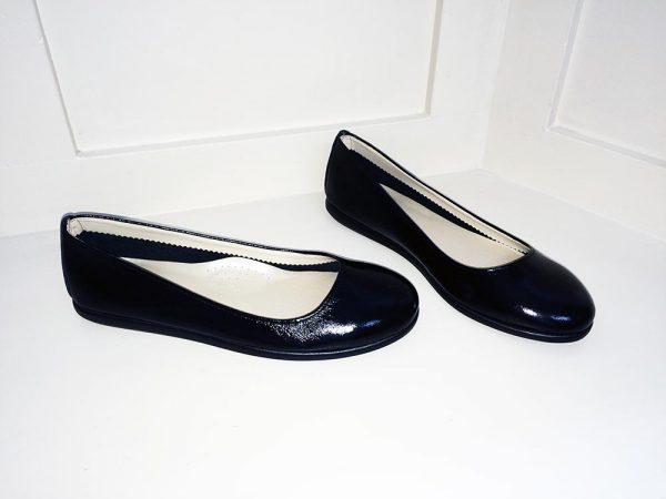 Ballerina black patent pump, Elegante Dronfield