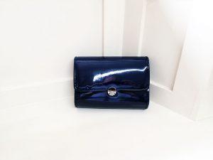 Lunar navy bag front, Elegante Dronfield