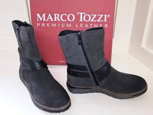 Grey ante comb boots, Elegante Dronfield