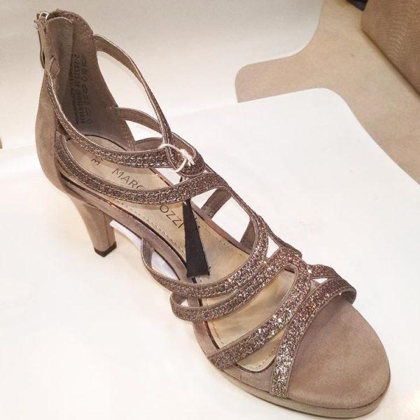 quality design 9e77b df371 Marco Tozzi Rose Gold Sandal - Elegante