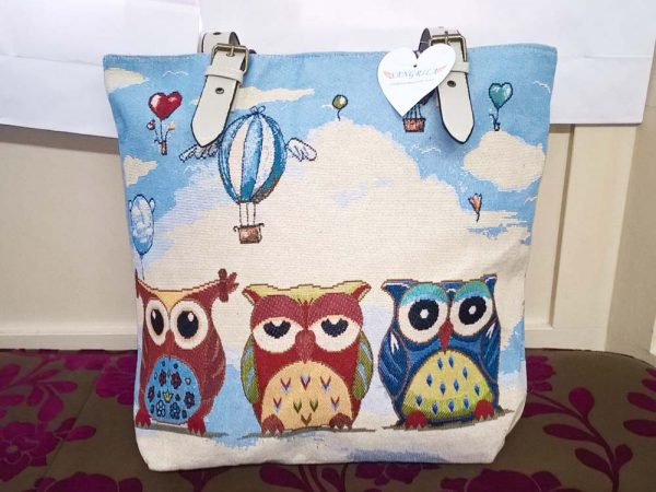 Sangrila Bag - Hot Air Balloons and Owls, Elegante Dronfield