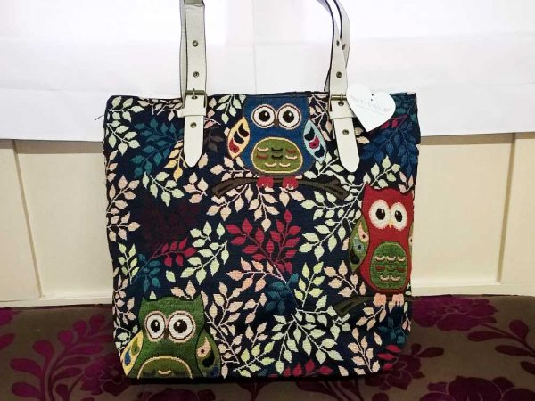 Sangrila Bag - Owls in Trees, Elegante Dronfield